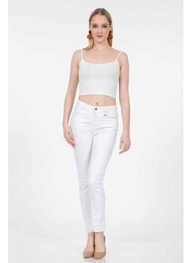 Vitrin Beyaz Düz Skiny Denim Pantolon Beyaz